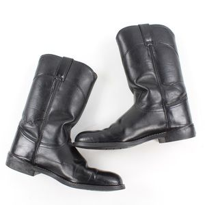 Justin Ropers Boots Women's Size 9 - Black JBL3000